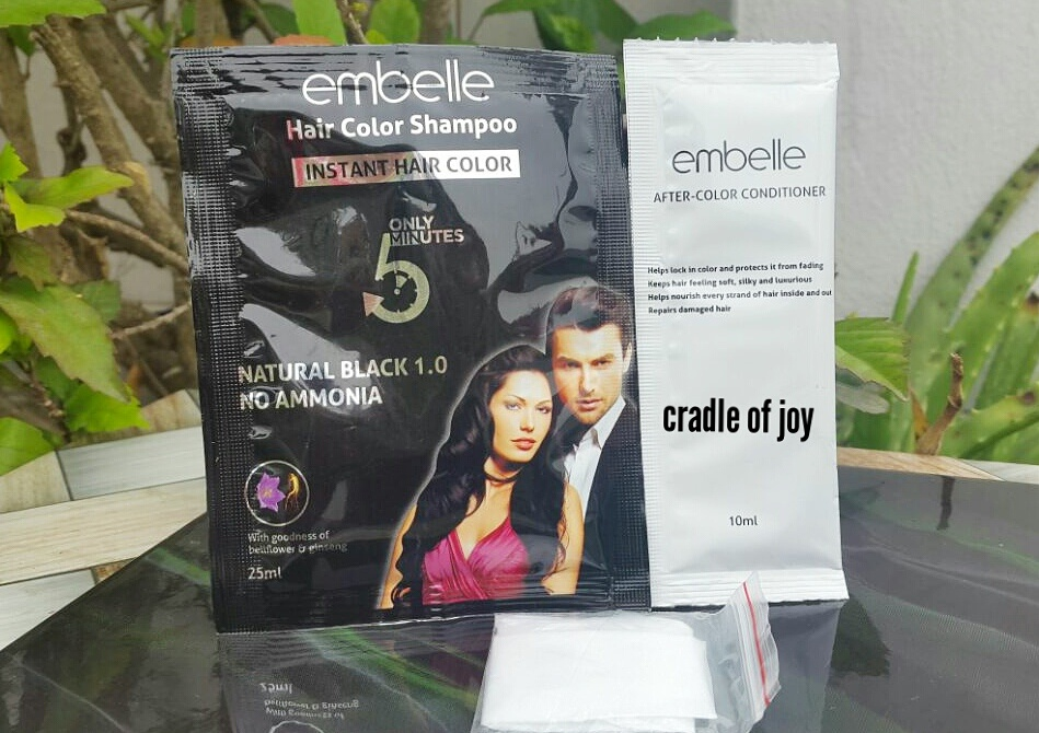 Review Of Embelle Hair Color Shampoo With Video Cradle Of Joy
